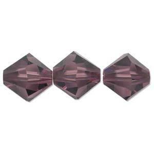 8mm Swarovski Crystal Bicone, Amethyst