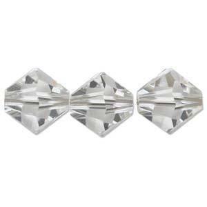 4mm Swarovski Crystal Bicone, Crystal