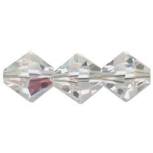 6mm Swarovski Crystal Bicone, Crystal AB
