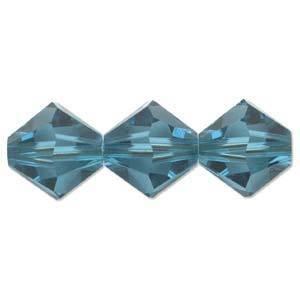 4mm Swarovski Crystal Bicone, Indicolite