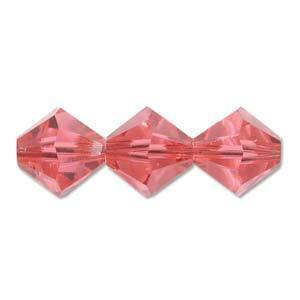 4mm Swarovski Crystal Bicone, Indian Pink