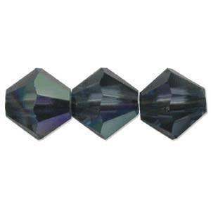 6mm Swarovski Crystal Bicone, Montana AB