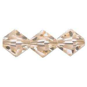 4mm Swarovski Crystal Bicone, Light Peach