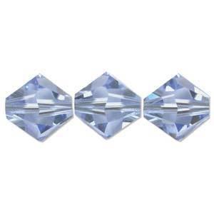 4mm Swarovski Crystal Bicone, Sapphire, light