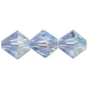 6mm Swarovski Crystal Bicone, Sapphire, light AB