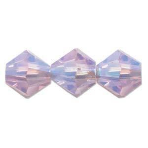 4mm Swarovski Crystal Bicone, Violet 2 x AB