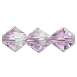 4mm Swarovski Crystal Bicone, Violet AB