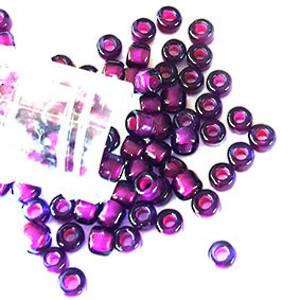 Matsuno size 6 round: 399E - Deep Purple (white colourlined)