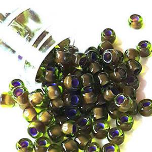 Matsuno size 6 round: 399Y - Dark Olive, purple lined