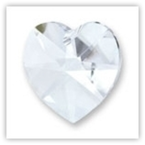 Swarovski Heart, 14mm - Crystal