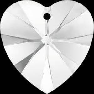 Swarovski Heart, 18mm - Crystal