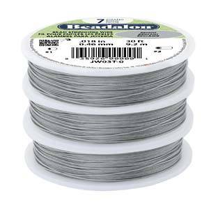 Beadalon 7 strand flexible wire BRIGHT-CLEAR: Fine (.012)