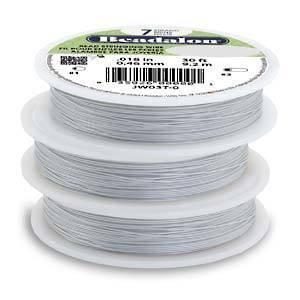 Beadalon flexible wire .012 SATIN-SILVER 30FT - 7 strand