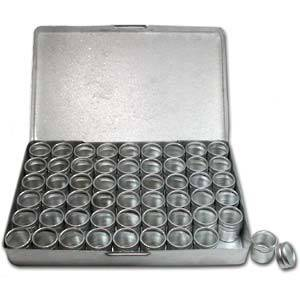 Aluminium Storage box: 54 containers (16 x 18mm) **NOTE MEASUREMENTS**