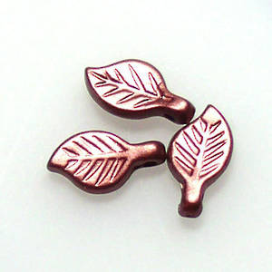 Acrylic Leaf, 5mm x 9mm - Reddy Brown