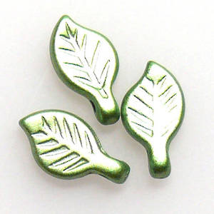 Acrylic Leaf, 5mm x 9mm - Peridot