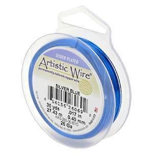 Artistic Wire: 22 gauge, Silver Blue