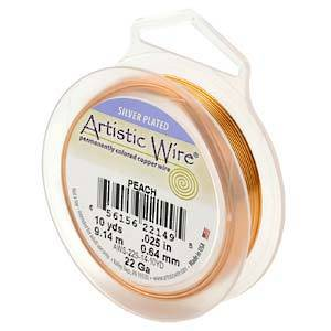 CLEARANCE: Artistic Wire, Peach, 22 gauge