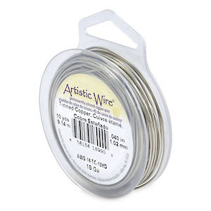 Artistic Wire: 18 gauge, Tinned Silver
