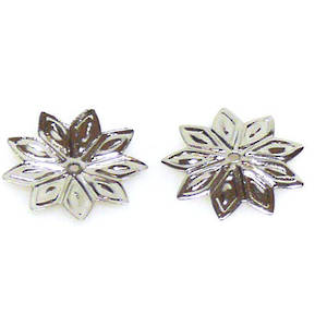 Antique Silver Bead Cap, 12mm, flat flower
