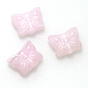 Small Butterfly Bead, Pink opaque