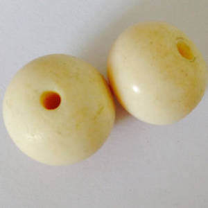 Bone Bead: 16mm plain