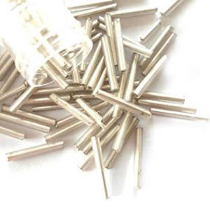 Chinese Bugle, 13mm: Silver, silver lined, semi-matte shine