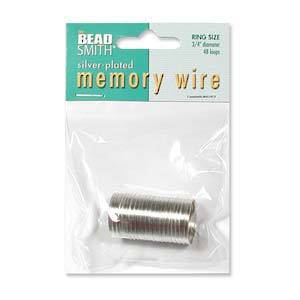 Memory Wire: Ring Size - bright silver