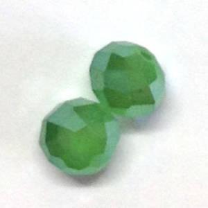 Chinese Crystal, 10mm rhondelle - Milky Lt Olivine