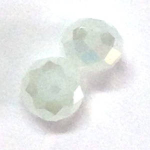 Chinese Crystal, 6mm rhondelle - Opaque Grey AB