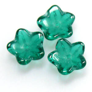 Cupped Flower, 10mm - Emerald