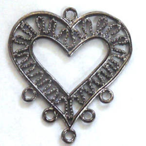 Gunmetal Chandelier Top, decorative heart