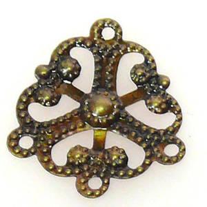 Chandelier Top, Fine stamped brass chandelier top, 3 bottom loops
