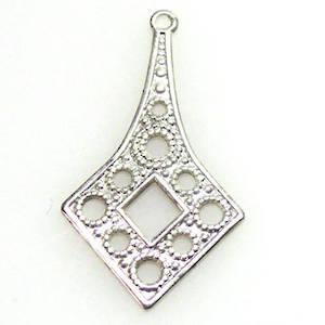 Antique Silver Chandelier Top, Fine filgree diamond