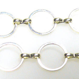 Large Round Chain, figure 8 link, Bright Silver