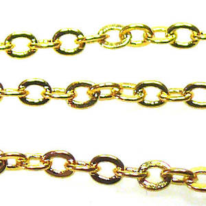 Very Fine Plain Chain: Gold (2mm)