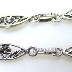 Flower Chain, Antique Silver
