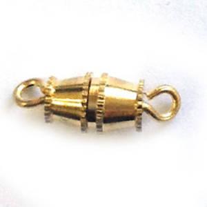 Barrel Clasp, medium - gold