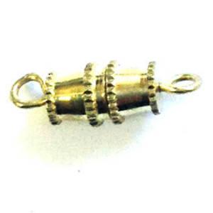 Barrel Clasp, medium - yellow gold