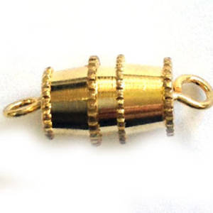 Barrel Clasp, large - gold