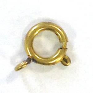 Spring Ring Clasp, big - antique gold