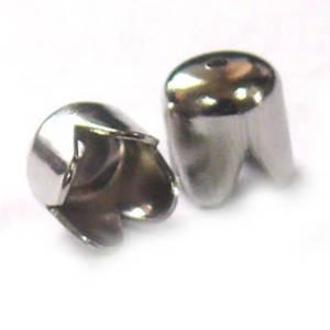 Plain Scalloped Cone, 6mm - Antique Silver