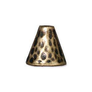 Hammered Cone, 8mm - Brass