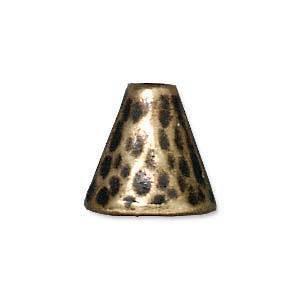 Brass Cone, hammered