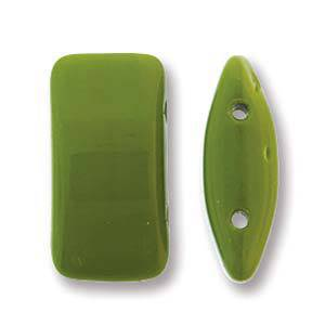 Glass Carrier Bead: Wasabi Green
