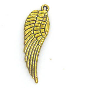 Metal Charm: Medium Wing - brass