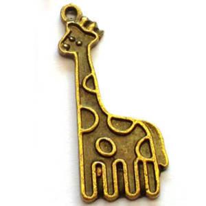 Metal Charm: Giraffe - brass