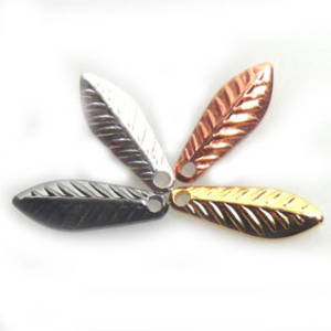 Stamped Tin Leaf: Fine - silver/gold/gun/copper