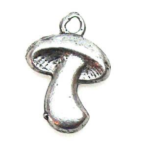 Metal Charm: Mushroom - silver