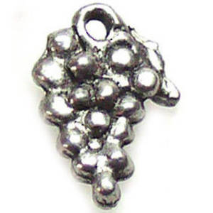 Metal Charm: Grape bunch - antique silver
